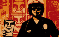 Shepard Fairey and poster