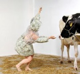 Ann Carlson and Cow